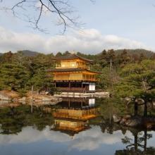 The Golden Pavilion at Kinkakuji Temple
