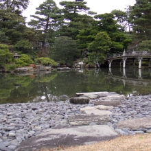 Japanese Garden at the Kyoto Imperial Palace
