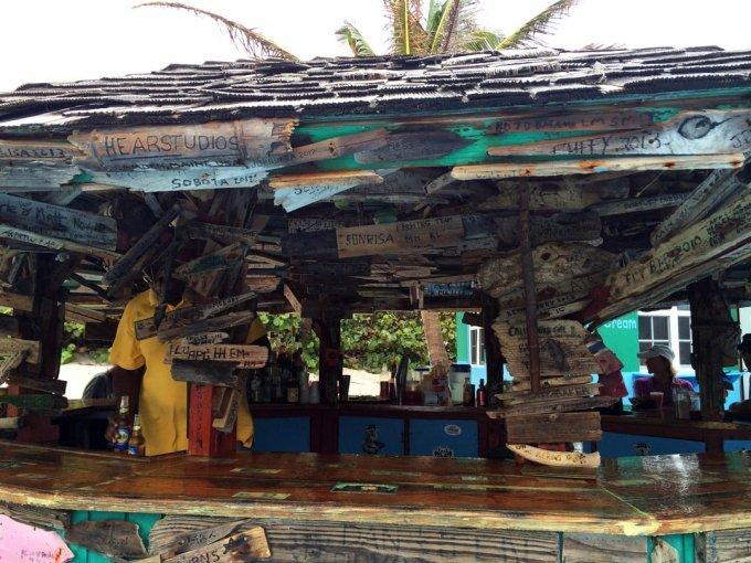 Driftwood on bar