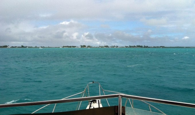 Anegada on the horizon
