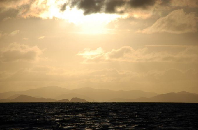Sunset over the glorious BVIs