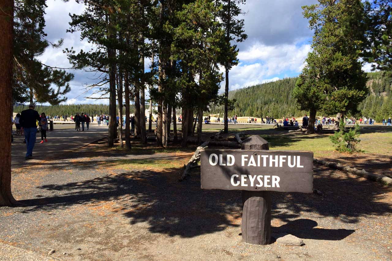 Old Faithful Signage
