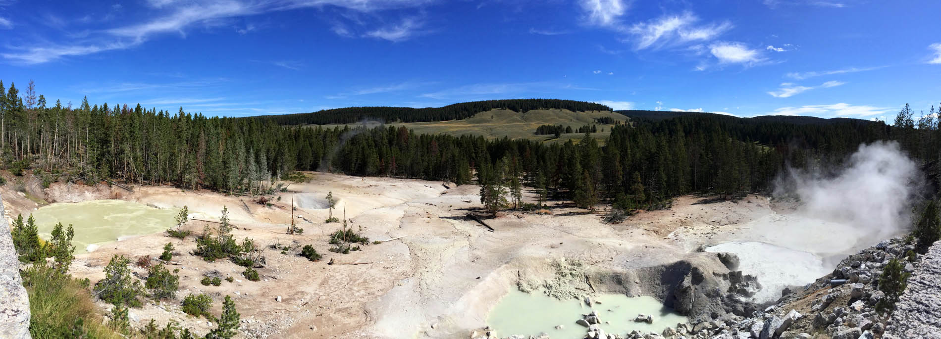 Sulphur Cauldron Panorama