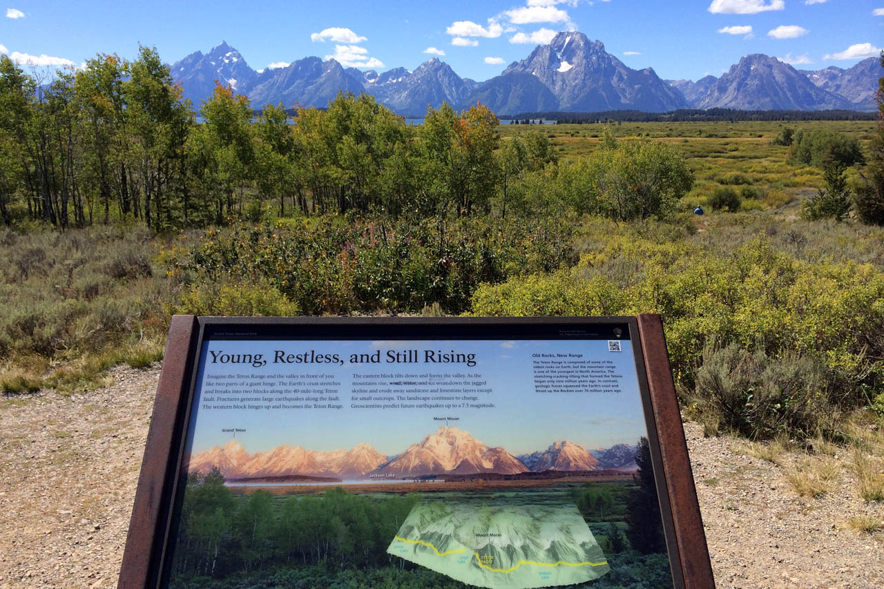 Young Tetons w Sign