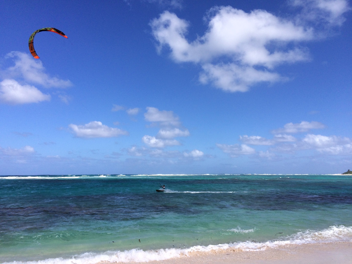 Kitesurfer on Loblolly Bay