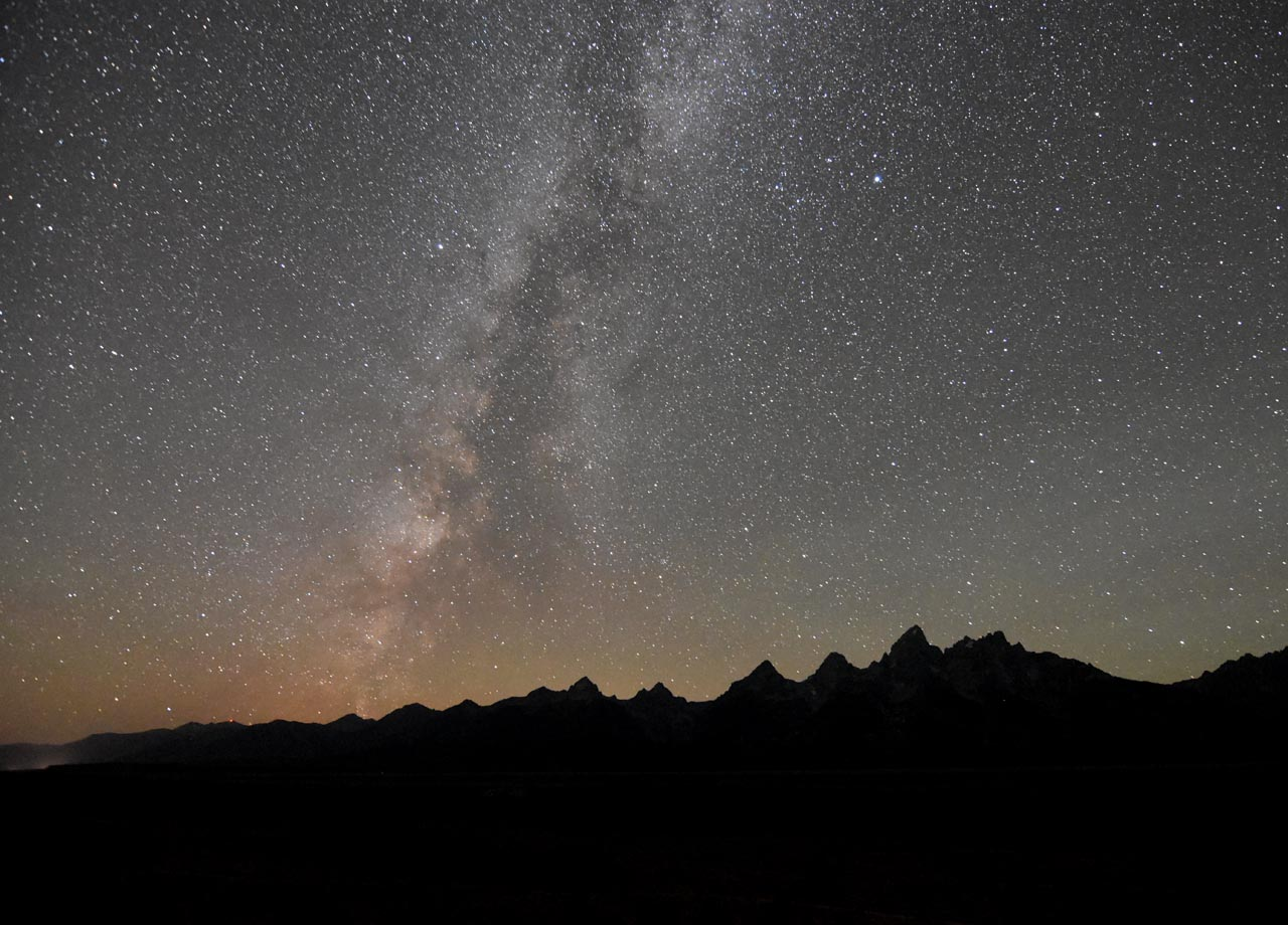Tetons Night Sky