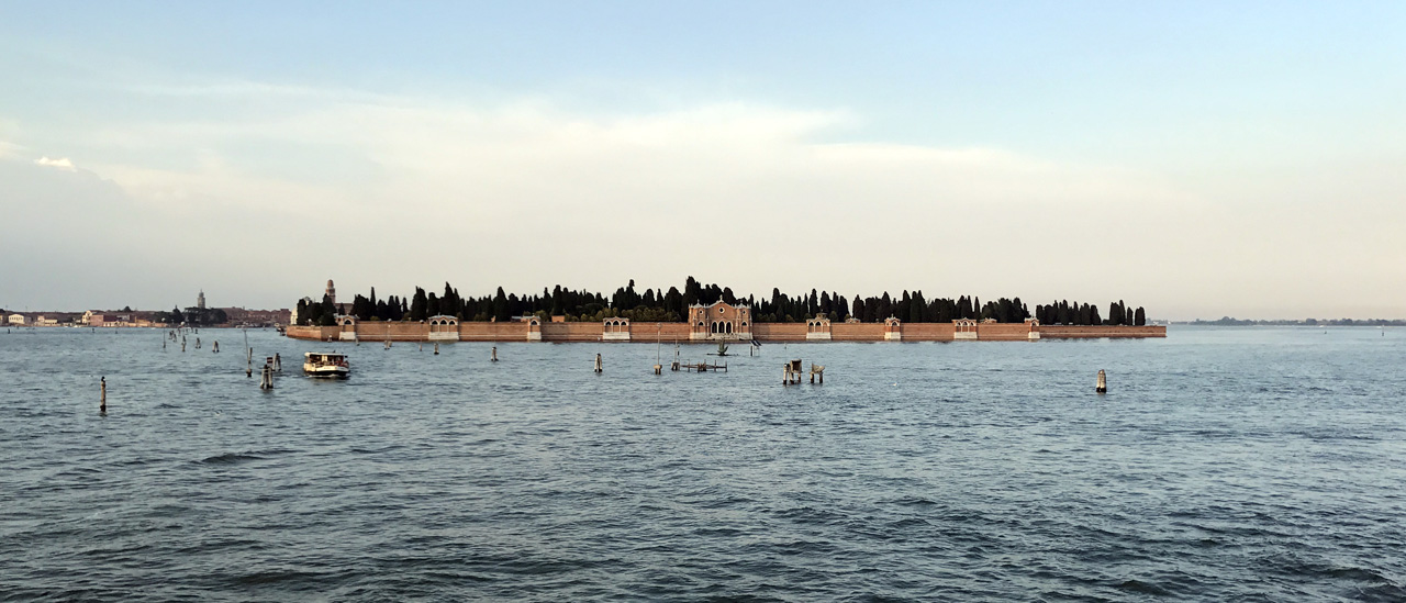 View of San Michele - Cemetery Island - from Venice