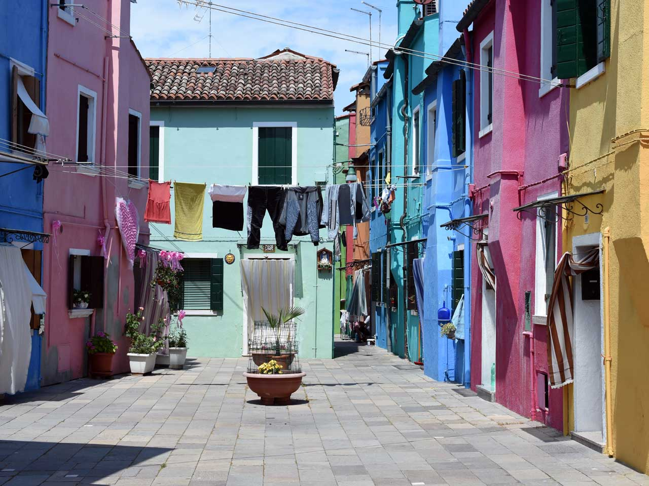 Laundry on the line in Burano