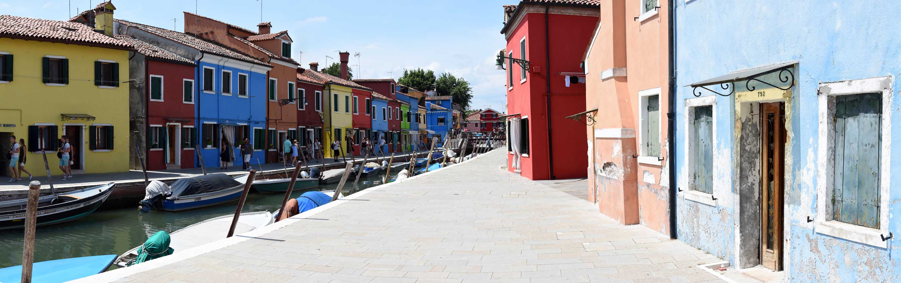 Canal panorama in Burano