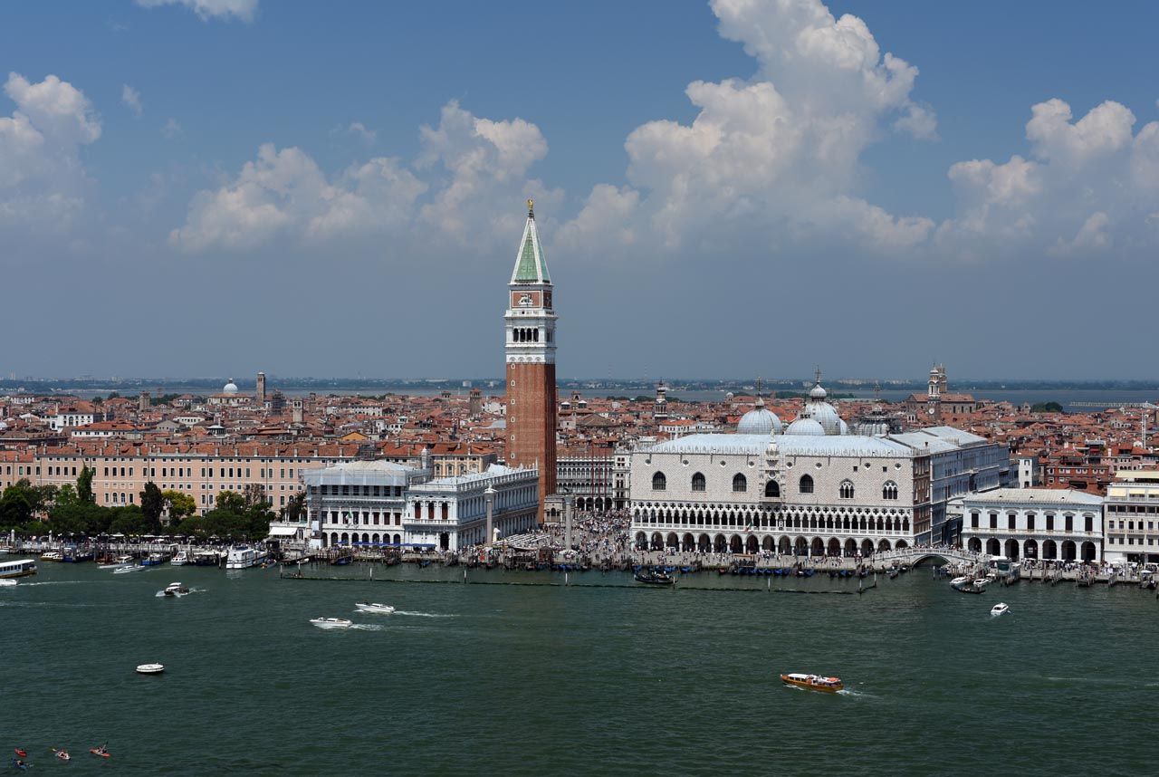 View of St. Mark's Square and the Doge's Palace from San Giorgio Maggiore