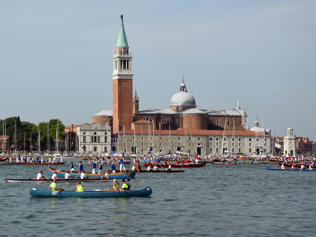 At the start - with San Giorgio Maggiore in background