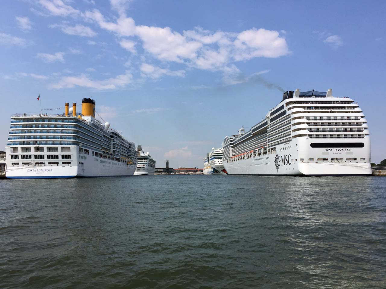 Cruise ships abound in the Port of Venice